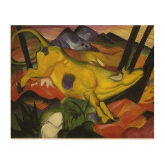 Vintager Franz Marc die gelbe Kuh Holzdruck