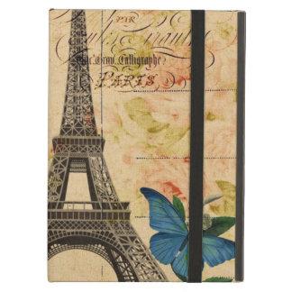Vintager französischer mit Blumenturm Vogel-Paris