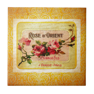 Vintager französischer Parfüm-Aufkleber Keramikfliese