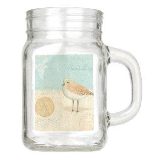 Vintager französischer Sand-Pfeifer Einmachglas