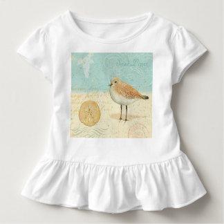 Vintager französischer Sand-Pfeifer Kleinkind T-shirt
