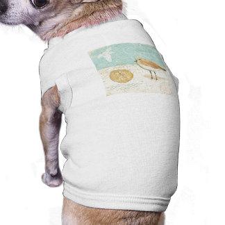 Vintager französischer Sand-Pfeifer T-Shirt