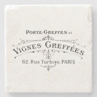 Vintager französischer Winemakers-Untersetzer Steinuntersetzer