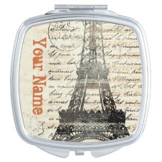 Vintager französisches Design-Vertrags-Spiegel Schminkspiegel