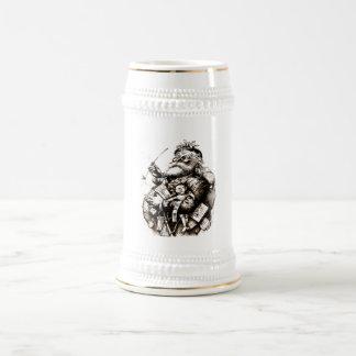 Vintager fröhlicher alter Weihnachtsmann Bierglas