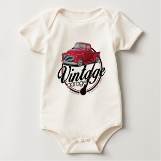 Vintager Garagen-LKW Baby Strampler