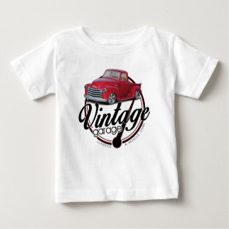 Vintager Garagen-LKW Baby T-shirt
