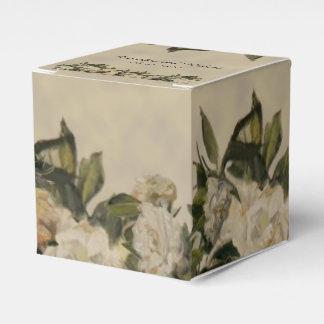 Vintager Gardenia-Gastgeschenk Hochzeits-Kasten Geschenkschachtel