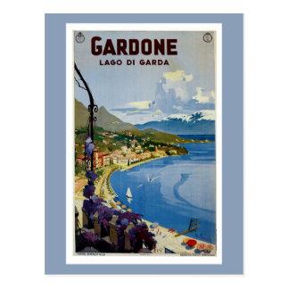 Vintager Gardone See Garda italienische Reise Postkarte