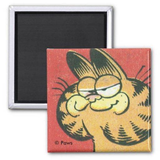 Vintager Garfield-Magnet Quadratischer Magnet