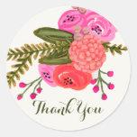 Vintager Garten danken Ihnen Aufkleber