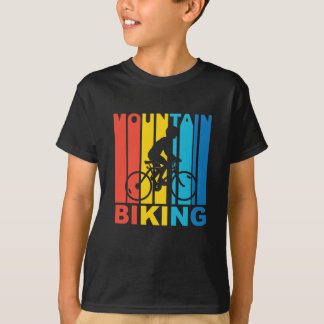 Vintager Gebirgsradfahrende Grafik T-Shirt