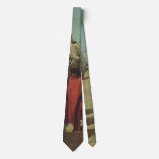 Vintager gebürtiger Amerikaner, Hopi-Pueblo durch Krawatte