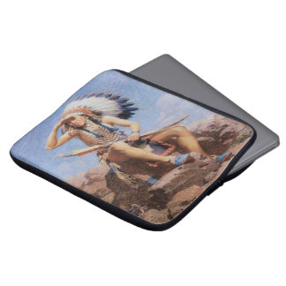 Vintager gebürtiger amerikanischer Ureinwohner, Laptop Sleeve
