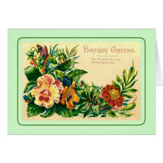 Vintager Geburtstag Grußkarte