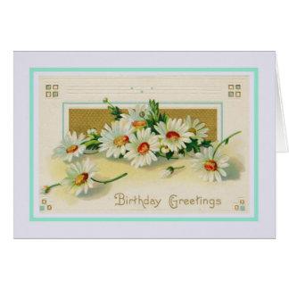 Vintager Geburtstag Karte