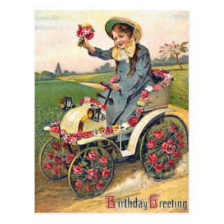 Vintager Geburtstags-Gruß Postkarte