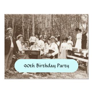 Vintager Geburtstags-Partysepia-Einladungen im 10,8 X 14 Cm Einladungskarte