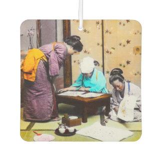Vintager Geisha in alter Japan-Lesung Lufterfrischer