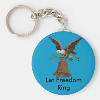 Vintager gelassener Freiheits-Ring Schlüsselanhänger