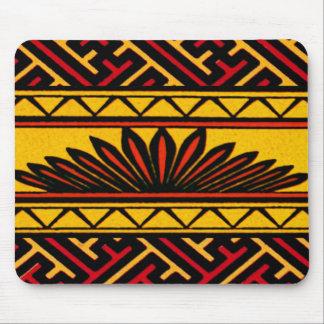 Vintager geometrischer afrikanischer Stammes- Chin Mauspads