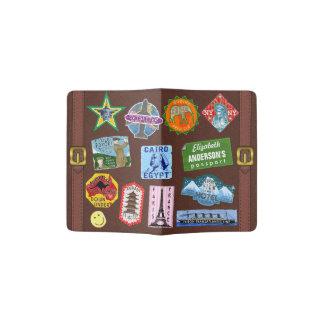 Vintager Gepäck-Weltreise-Koffer-Aufkleber-Name Passhülle