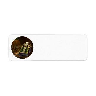 Vintager Geschäfts-Buchhalter, Buchungsmaschine