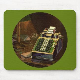 Vintager Geschäfts-Buchhalter, Buchungsmaschine Mousepad