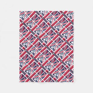 Vintager Gewerkschafts-Jack-BRITISCHE Flagge mit Fleecedecke