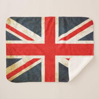 Vintager Gewerkschafts-Jack-britische Flagge Sherpadecke