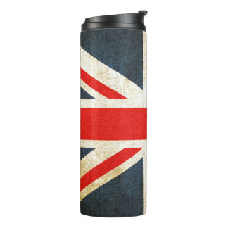 Vintager Gewerkschafts-Jack-britische Thermosbecher