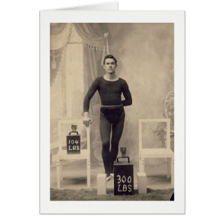 Vintager Gewichts-Heber Grußkarte