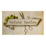 Vintager girly Haar-Stylist scissors natürliches Visitenkartenvorlagen