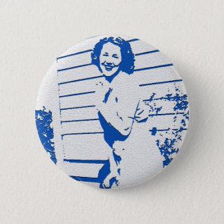 Vintager Glamour Runder Button 5,7 Cm