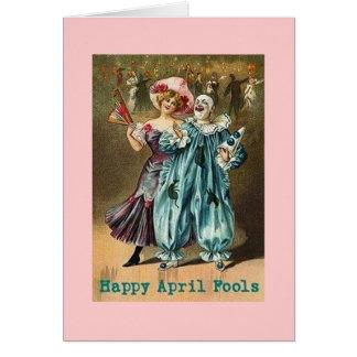 Vintager glücklicher April-Dummkopf-Tag Grußkarte
