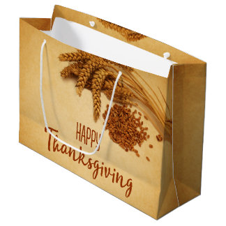 Vintager glücklicher Erntedank-Weizen - große Große Geschenktüte