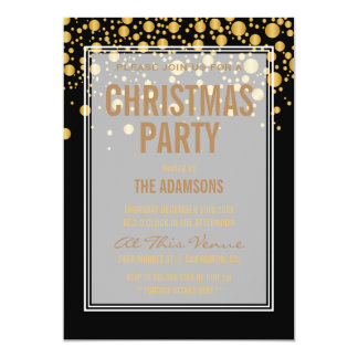 Vintager GoldConfetti des WeihnachtsParty-| Karte