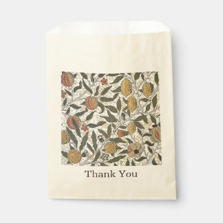 Vintager Granatapfel Williams Morris danken Ihnen Geschenktütchen