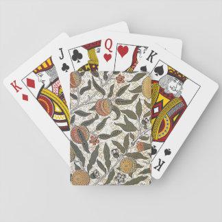 Vintager Granatapfel Williams Morris Spielkarten