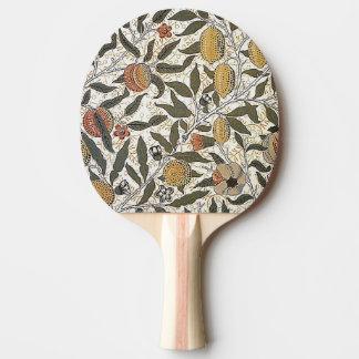 Vintager Granatapfel Williams Morris Tischtennis Schläger