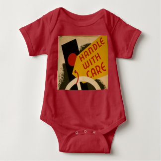 "Vintager ""Griff-sorgfältig"" Baby-Bodysuit Baby Strampler"