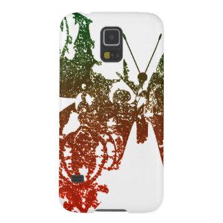 Vintager grüner roter Schmetterling Samsung rufen Galaxy S5 Hülle