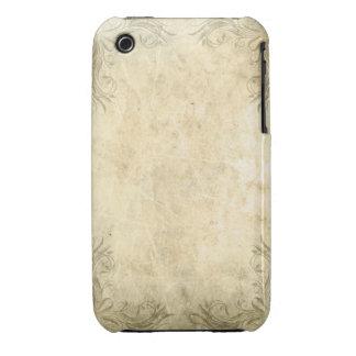 Vintager Grunge-Entwurfs-BlackBerry-Kurvenkasten iPhone 3 Case-Mate Hüllen