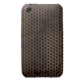 Vintager Grunge-Metallentwurfs-BlackBerry-Kurvenka Case-Mate iPhone 3 Hülle