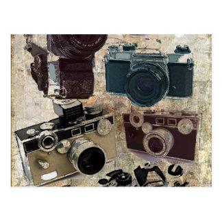 Vintager Grunge-Retro Kamera-Mode Postkarte