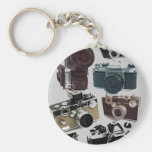 Vintager Grunge-Retro Kamera-Mode Schlüsselband