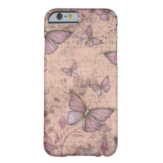 Vintager Grunge-Schmetterlinge iPhone 6 Fall Barely There iPhone 6 Hülle