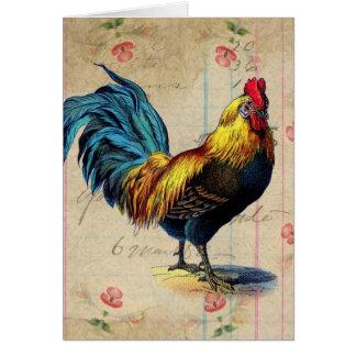 Vintager Hahn, Geburtstag Karte