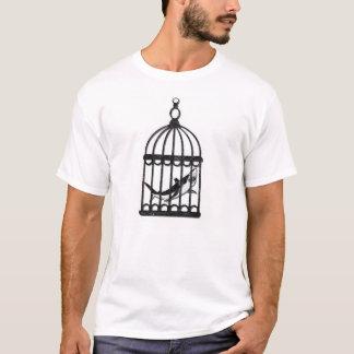 Vintager Haifisch in einem Käfig T-Shirt