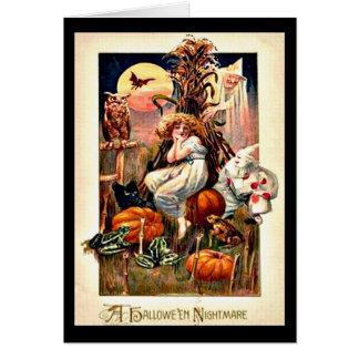 Vintager Halloween-Albtraum Karte